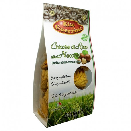 Rice cookies with Hazelnuts - Gluten free - 200g