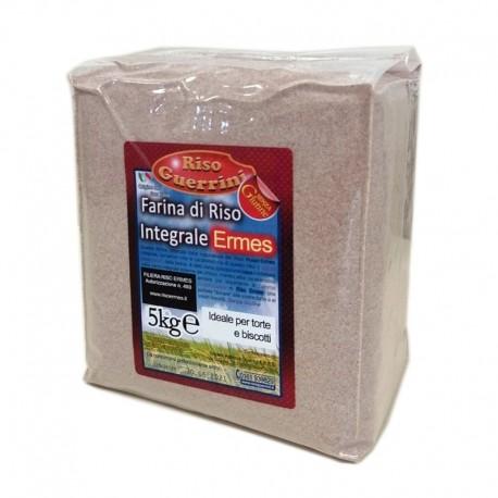 Farina di riso rosso Ermes Integrale- 5kg - Senza Glutine