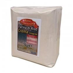 Farina di riso Integrale-(CREMA) sacco 5kg - Senza Glutine