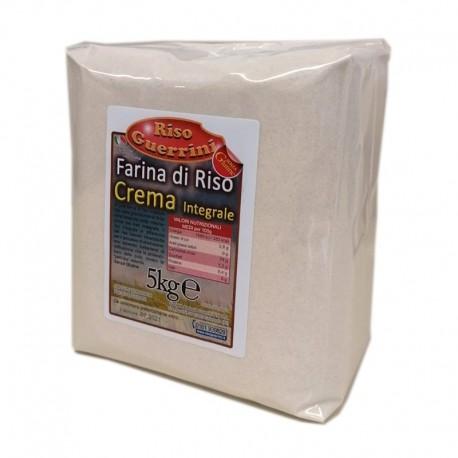 Farina di riso Integrale-(CREMA) sacco 5kg carta - Senza Glutine