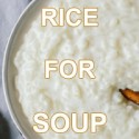 Rice for soup